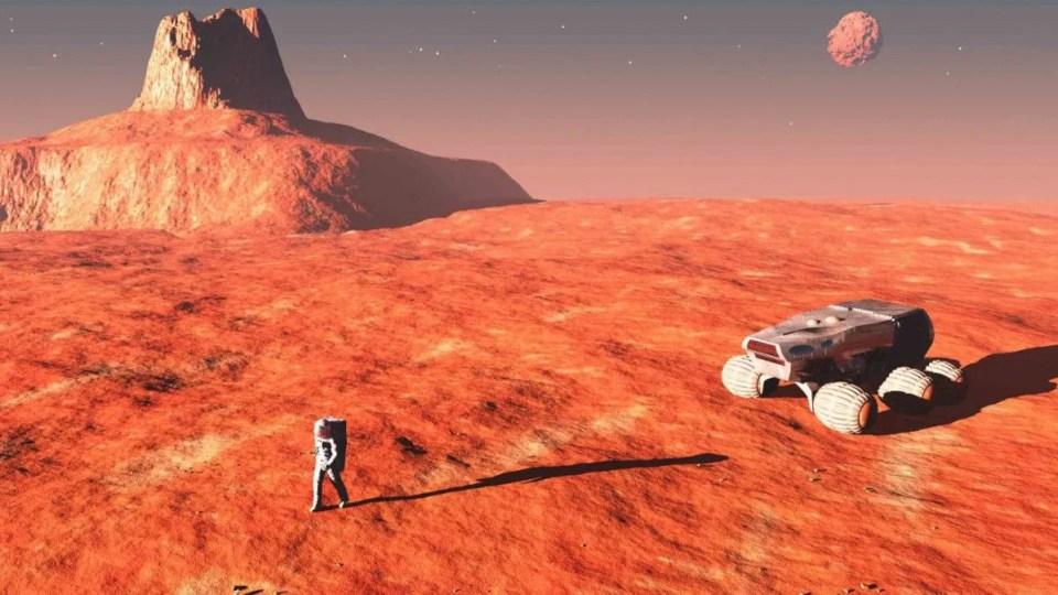 viaje ida y vuelta a Marte