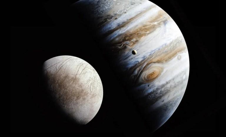 Luz en la atmósfera de Júpiter