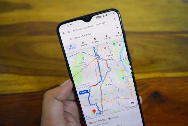 precio del combustible en Google Maps