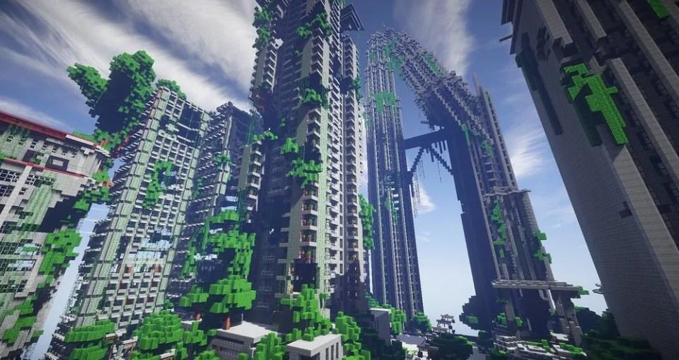 Jardín de Minecraft