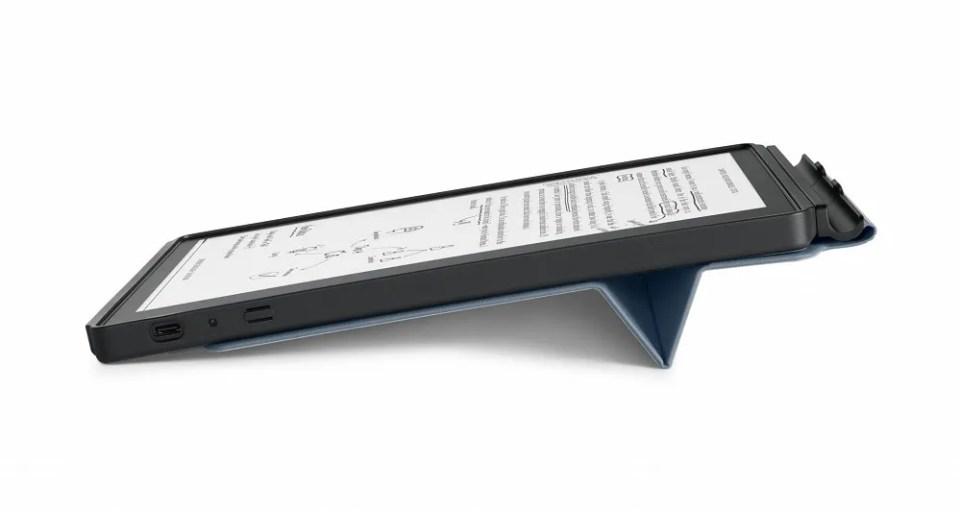 Puedes colocar el e-reader en el ángulo que desees
