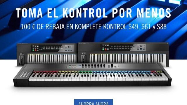 100 euros de descuento en todos los teclados Komplete Kontrol S
