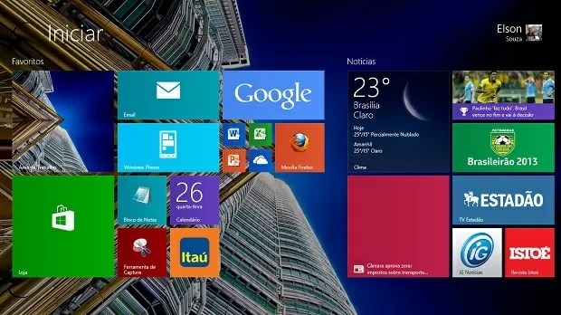 Windows 8.1 menu Iniciar