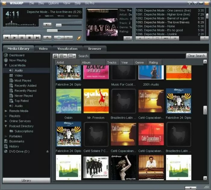 Winamp interface