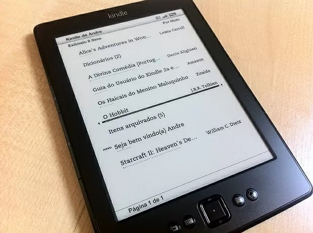 Amazon Kindle interface
