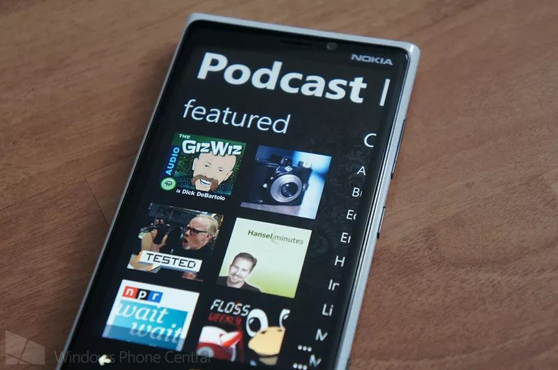 Windows Phone podcast app