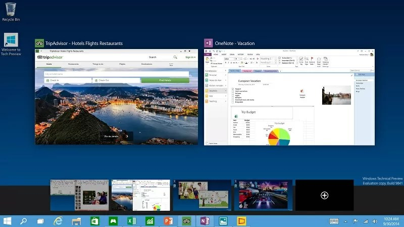 Windows 10 TaskView