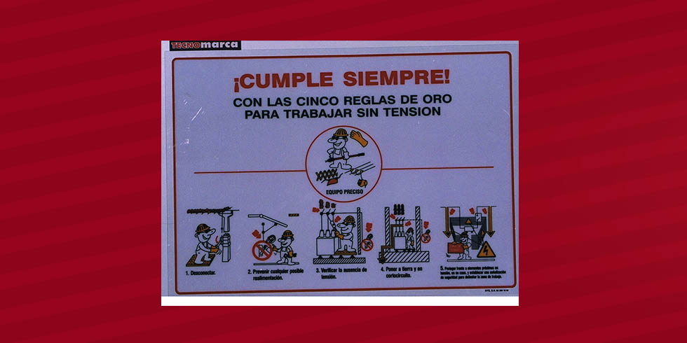 Cartel 5 reglas de oro