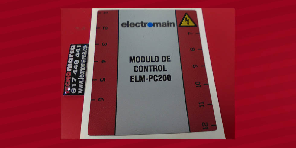 Etiqueta para cuadro eléctrico_Electromain