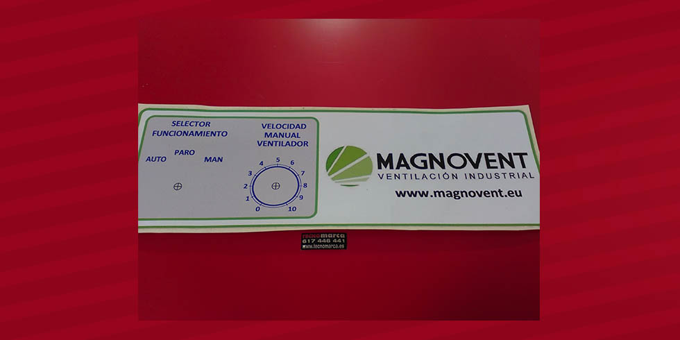 Etiqueta para cuadro eléctrico_sinóptico Magnovent