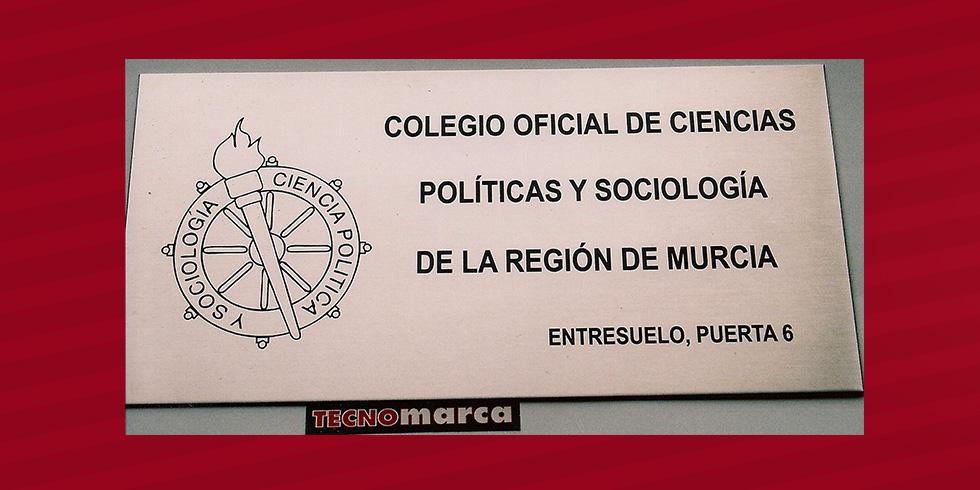 Grabado láser acero Colegio Oficial Ciencias Políticas