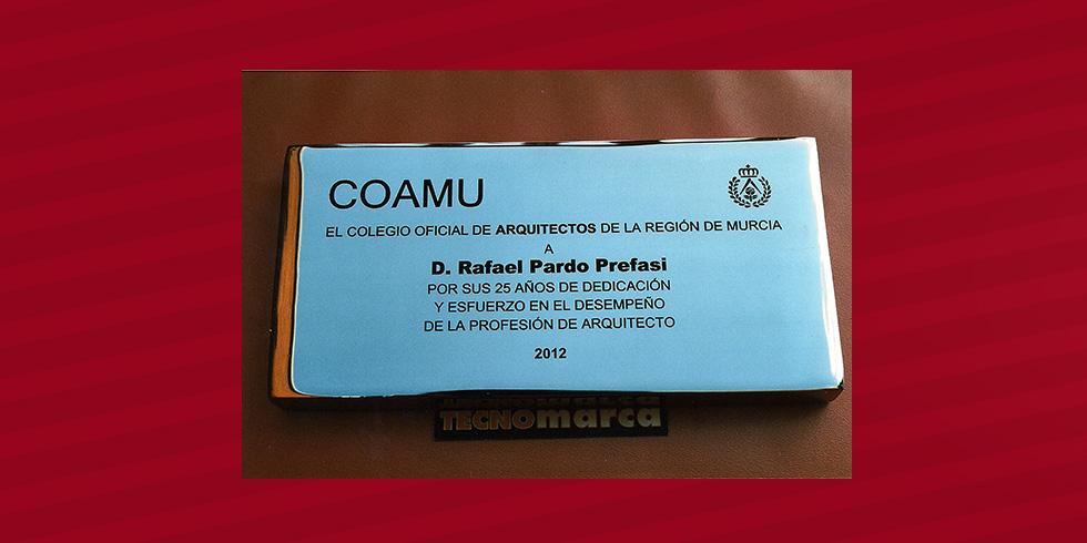 grabado láser acero Colegio Oficial de Arquitectos