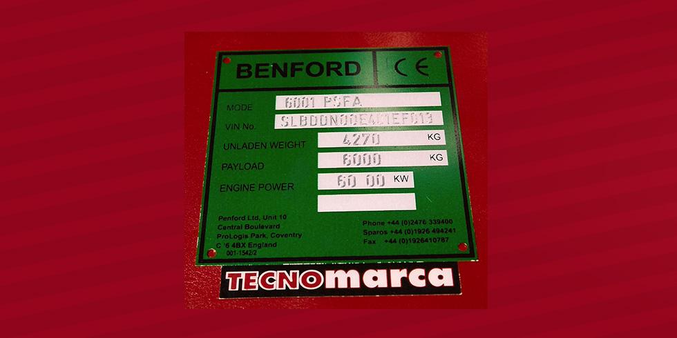placa aluminio Benford