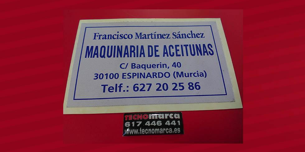Etiquetas para maquinaria_Maquinaria de aceitunas