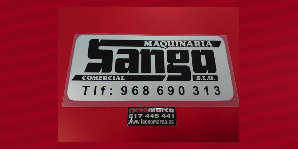Etiquetas para maquinaria_Sango
