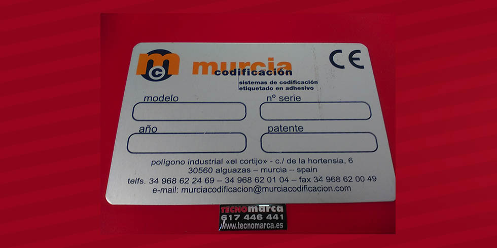 Placa CE_Murcia Codificación