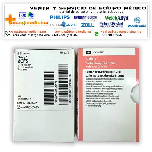 Cánula para traqueostomia 8CFS marca Shiley