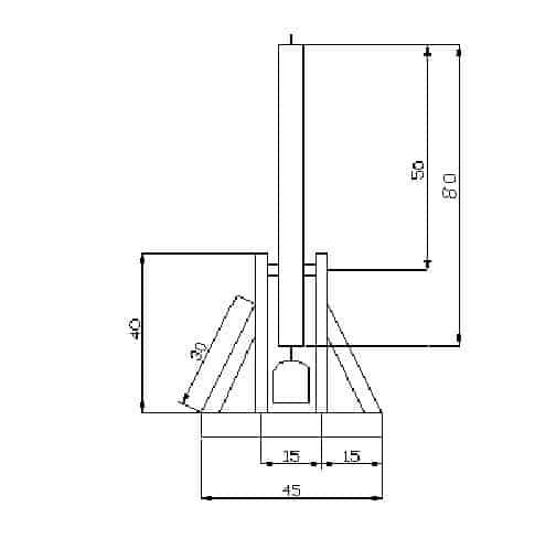 Catapulta trebuchet plano perfil