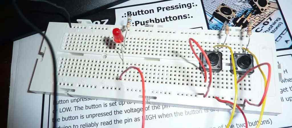 Arduino: práctica nº 2: Control mediante pulsadores- Arduino, Electrónica