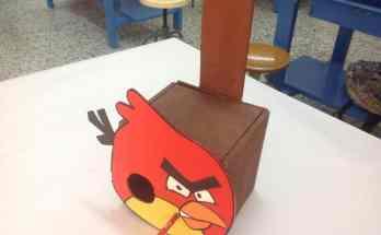 Construye una casita para pájaros modelo Angry Bird- Diseño