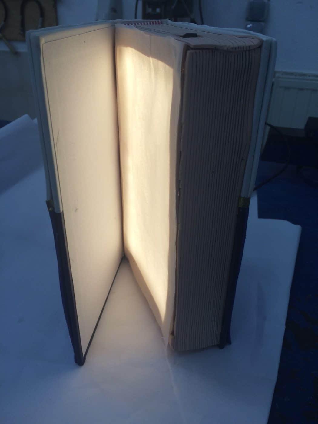 Lámpara libro con diodos LED- Electricidad, Electrónica, Proyectos
