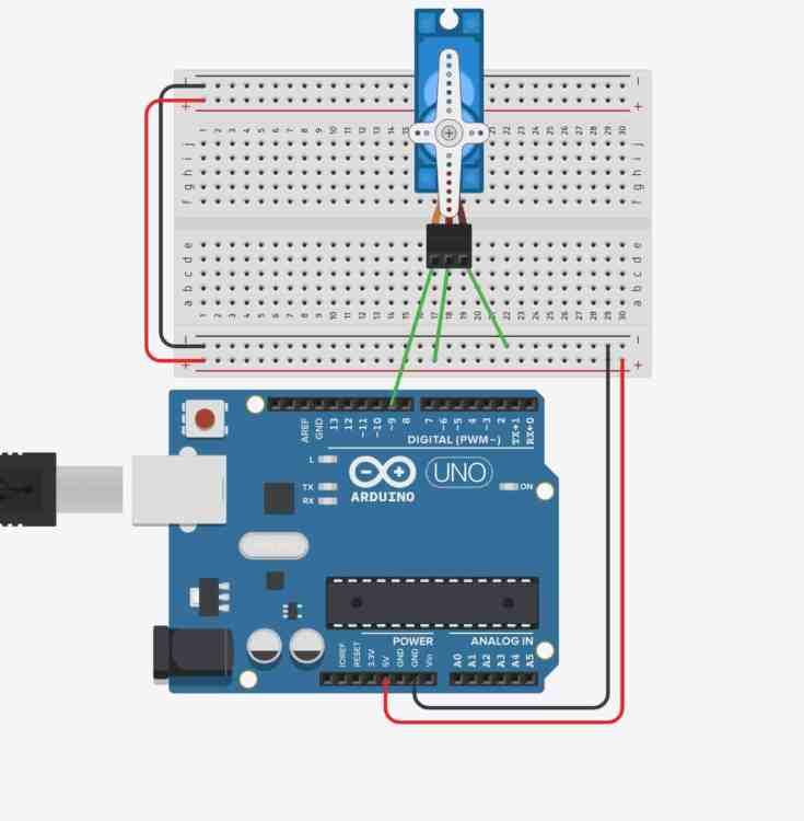 Control de un servomotor con Arduino- Arduino