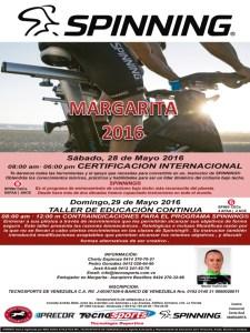 Certificación Internacional Instructor Spinning Margarita 2016 por Tecnosports