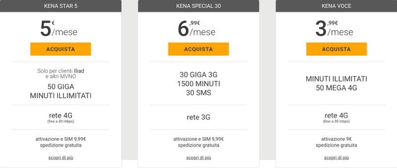 Offerte Kena Mobile