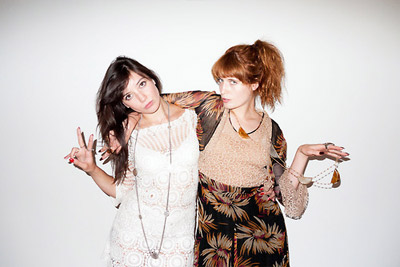 Florence Welch + Daisy Lowe