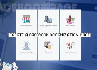 Create a Facebook Organization Page