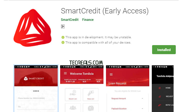 Smart Credit – Apply For a Loan | Sign Up | Sign In | App Download