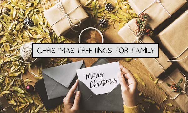 Christmas Freetings for Family