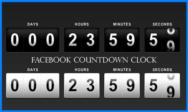 Facebook Countdown Clock