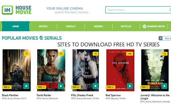Sites to Download Free HD TV Series