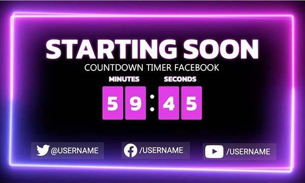 Countdown Timer Facebook