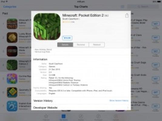 Captura de tela do Minecraft pirata (Foto: Imgur minecraft pirata fica no top mais baixados da apps store; apple remove jogo