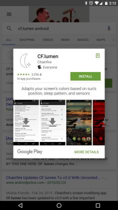 Atualização do Google App permite instalar apps através dosresultados de pesquisas  Google App: Atualização permite instalar apps através dos resultados de pesquisas nexus2cee 33