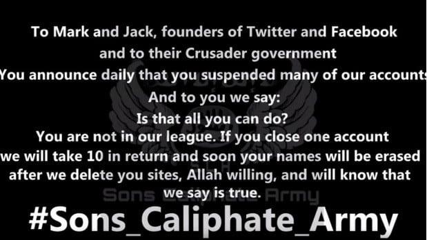 Estado Islâmico mark zuckerberg e jack dorsey são ameaçados de morte pelo isis Mark Zuckerberg e Jack Dorsey são ameaçados de morte pelo ISIS 25091815150201