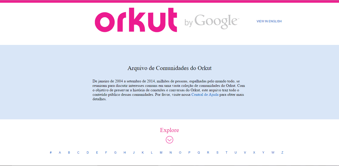 orkut orkut: google disponibiliza acervo de comunidades online
