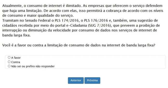 limite de internet senado federal quer a sua opinião em relação ao limite de internet Senado Federal quer a sua opinião em relação ao limite de internet 24130425495081