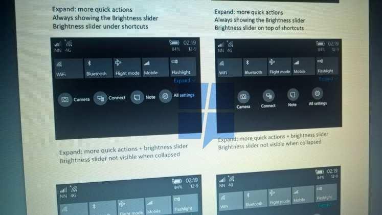 Windows 10 Mobile [rumor] windows 10 mobile terá uma nova central de ações