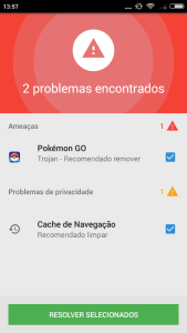 """Pokémon Go brasil tem mais de 120 mil ameaças de """"pokémon go"""" detectados pela psafe"""