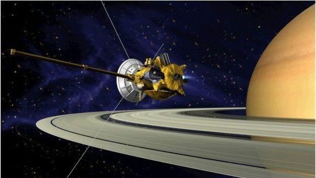 Cassini nave cassini mergulha nos anéis de saturno