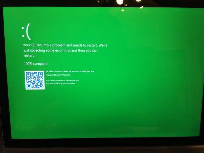 Tela Verde microsoft troca popular tela azul da morte por tela verde no windows 10