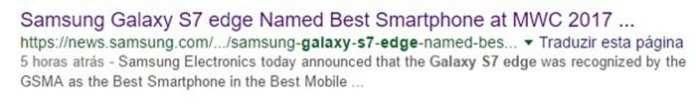 Galaxy S7 Edge galaxy s7 edge é considerado o melhor smartphone de 2017 por engano