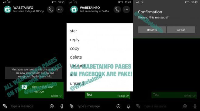 Windows 10 Mobile whatsapp beta do windows 10 mobile trás recurso para cancelar envio de mensagem