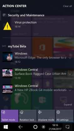 Windows 10 Mobile imagens reais indicam que windows 10 mobile pode mudar radicalmente Imagens reais indicam que Windows 10 Mobile pode mudar radicalmente Windows 10 Andromeda 006 576x1024