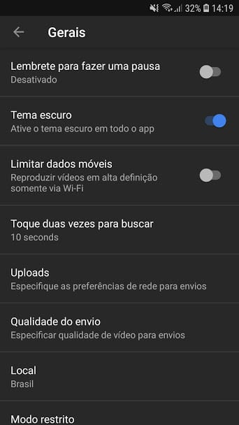 youtube black youtube google Youtube Black: Google finalmente libera tema escuro para o aplicativo no Android Screenshot 20180908 141921 YouTube