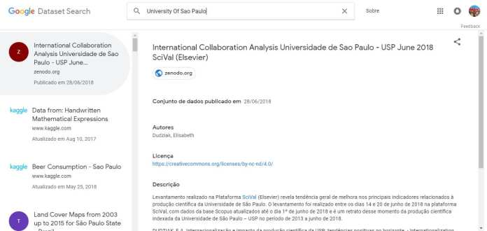 google data search google Google Data Search: Novo sistema de busca vai ajudar cientistas a encontrar dados USP Google DataSet Search