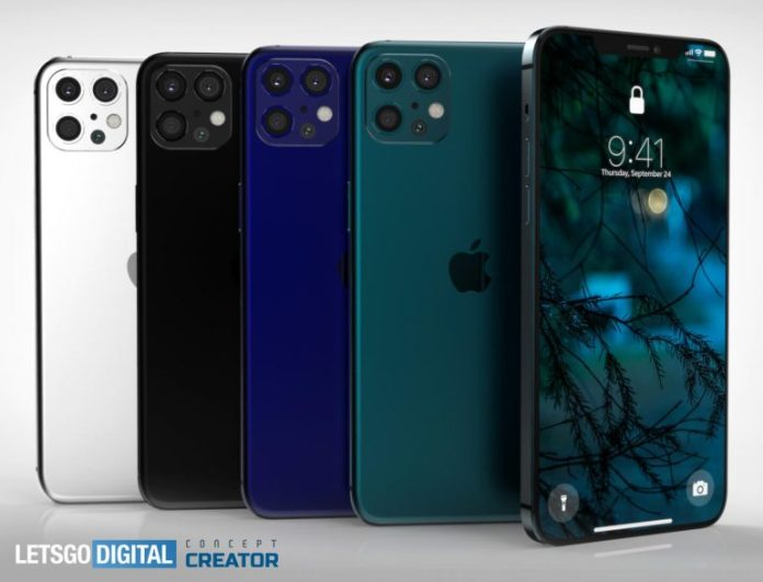 Conceito do iPhone 12  Vaza imagens do iPhone 12 Conceito do iPhone 12